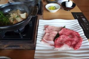 米沢牛と豚